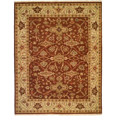 Qingdao Hand-Woven Brown/Beige Area Rug Rug Size: Rectangle 4 x 6