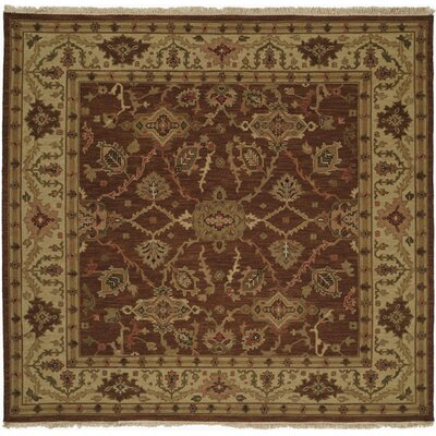 Qingdao Hand-Woven Brown/Beige Area Rug Rug Size: Square 6