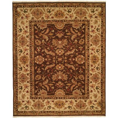 Tianjin Hand-Woven Brown/Beige Area Rug Rug Size: 2 x 3