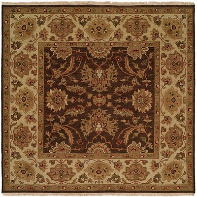 Tianjin Hand-Woven Brown/Beige Area Rug Rug Size: Square 6