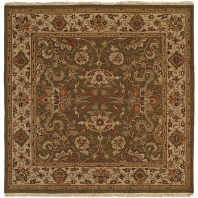 Weihai Hand-Woven Beige Area Rug Rug Size: Square 6
