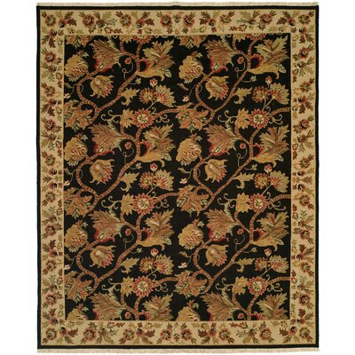 Acharya Hand-Woven Black/Brown Area Rug Rug Size: Rectangle 9 x 12