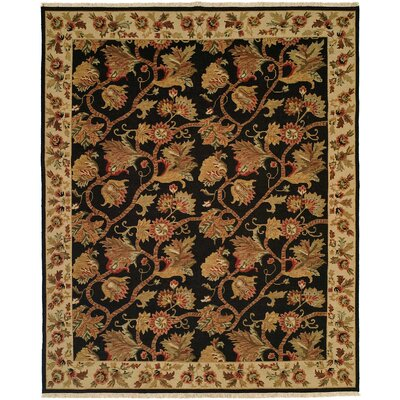 Acharya Hand-Woven Black/Brown Area Rug Rug Size: 6 x 9