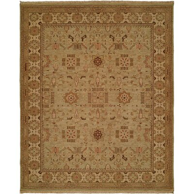Agrawal Hand-Woven Beige Area Rug Rug Size: Round 8