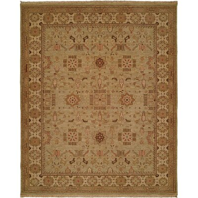 Agrawal Hand-Woven Beige Area Rug Rug Size: 4 x 8