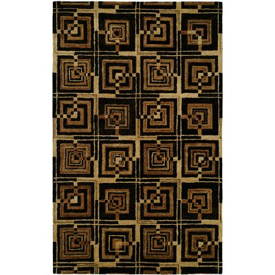 Anand Hand-Woven Black/Brown Area Rug Rug Size: Runner 26 x 8