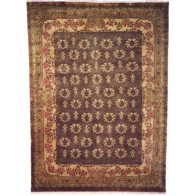 Anne Hand-Woven Antique Green Area Rug Rug Size: 4 x 6