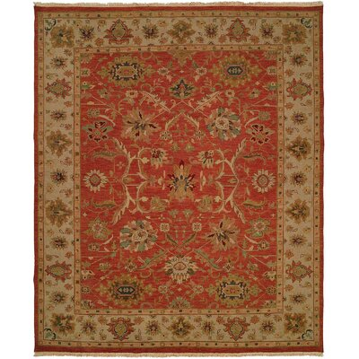 Arora Hand-Woven Red/Beige Area Rug Rug Size: Rectangle 4 x 8