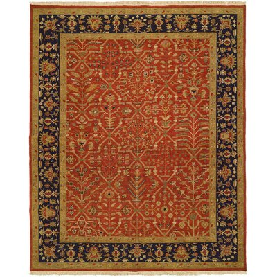 Arya Hand-Woven Red/Black Area Rug Rug Size: 4' x 6'