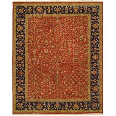 Arya Hand-Woven Red/Black Area Rug Rug Size: 9' x 12'