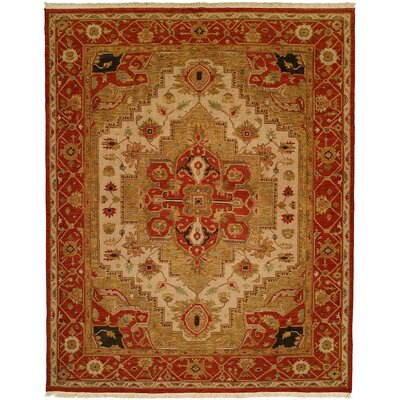 Babu Hand-Woven Brown/Beige Area Rug Rug Size: Rectangle 3 x 5