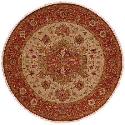 Babu Hand-Woven Brown/Beige Area Rug Rug Size: Round 6