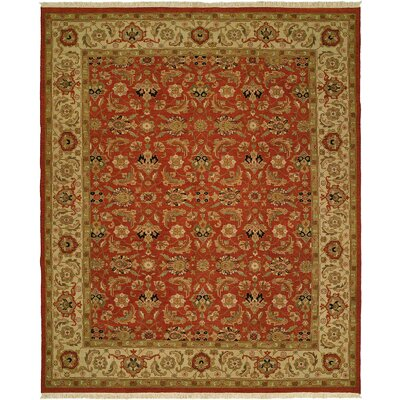 Badal Hand-Woven Red/Beige Area Rug Rug Size: Rectangle 6 x 9