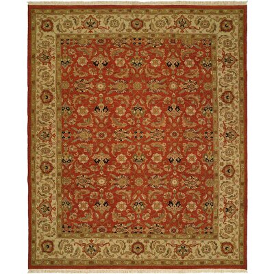 Badal Hand-Woven Red/Beige Area Rug Rug Size: 6 x 9