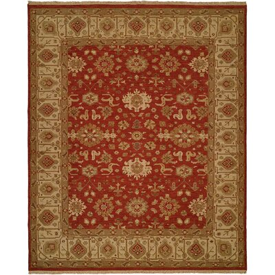 Badami Hand-Woven Red/Beige Area Rug Rug Size: 6 x 9