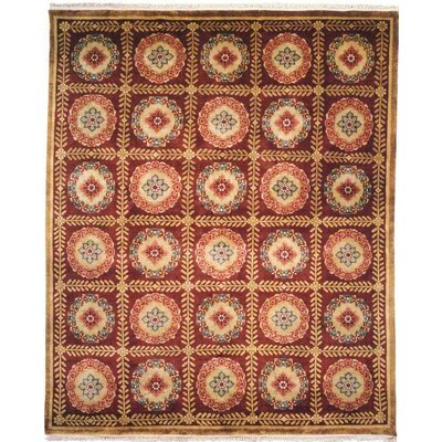 Bahl Hand-Knotted Red/Brown Area Rug Rug Size: 6 x 9