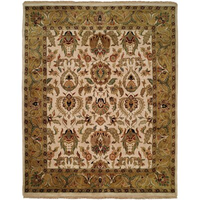 Bail Hand-Woven Gold/Beige Area Rug Rug Size: Runner 29 x 10