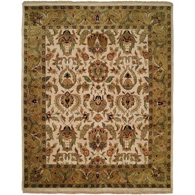 Bail Hand-Woven Gold/Beige Area Rug Rug Size: 6 x 9