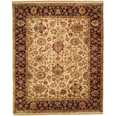 Bajaj Hand-Woven Brown/Beige Area Rug Rug Size: 6 x 9