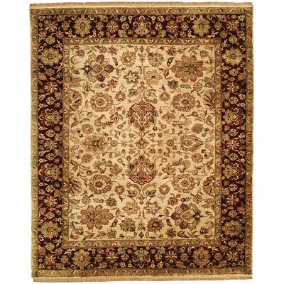 Bajaj Hand-Woven Brown/Beige Area Rug Rug Size: Square 10