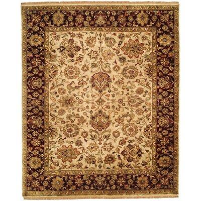 Bajaj Hand-Woven Brown/Beige Area Rug Rug Size: 4 x 6