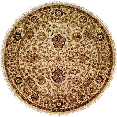 Bal Hand-Woven Beige Area Rug Rug Size: Round 6