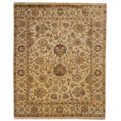 Bal Hand-Woven Beige Area Rug Rug Size: Square 6