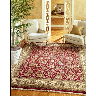 Balan Hand-Woven Red/Beige Area Rug Rug Size: Rectangle 6 x 9