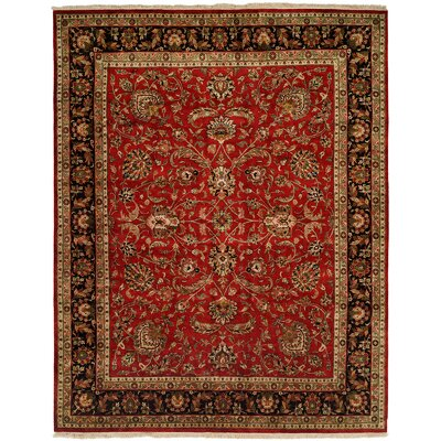Balay Hand-Woven Red/Black Area Rug Rug Size: Square 10