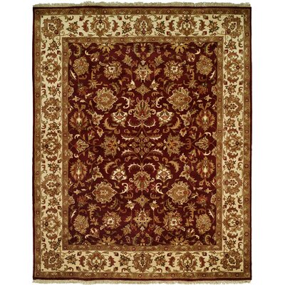 Barad Hand-Woven Burgundy Area Rug Rug Size: Rectangle 6 x 9