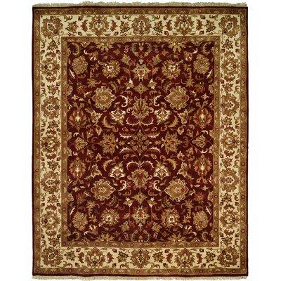 Barad Hand-Woven Burgundy Area Rug Rug Size: 6 x 9