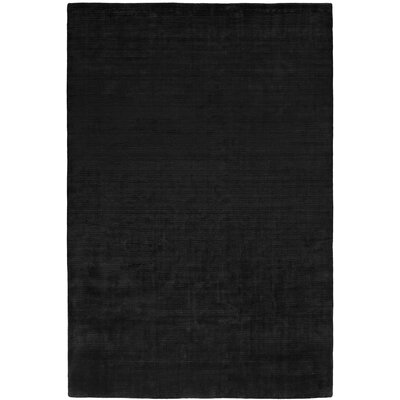 Baral Hand-Woven Black Area Rug Rug Size: 6 x 9