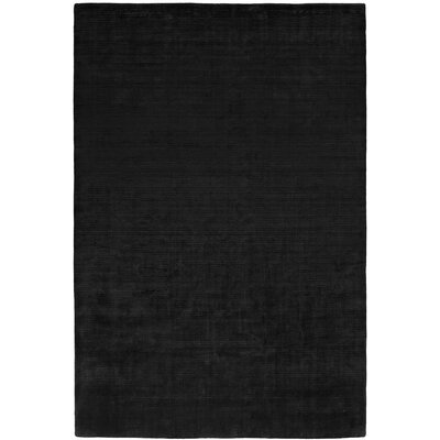 Baral Hand-Woven Black Area Rug Rug Size: 36 x 56
