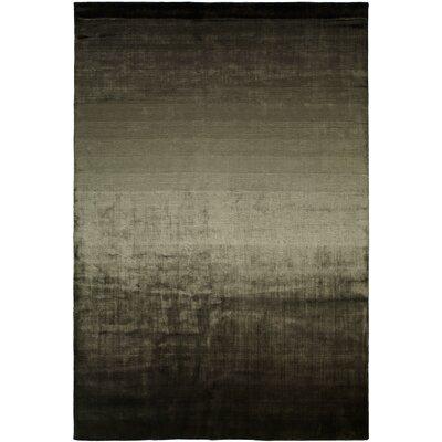 Bath Hand-Woven Black/Beige Area Rug Rug Size: 6 x 9