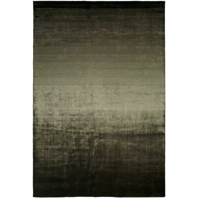 Bath Hand-Woven Black/Beige Area Rug Rug Size: 8 x 10