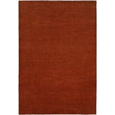 Batra Hand-Woven Red Area Rug Rug Size: 36 x 56