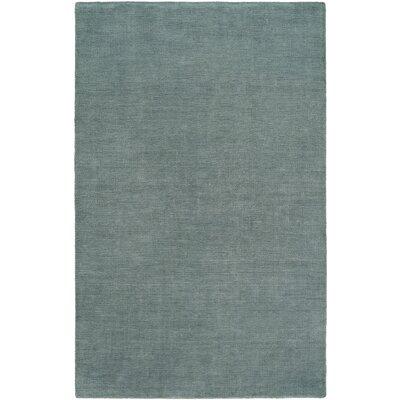 Batta Hand-Woven Blue Area Rug Rug Size: 5 x 8