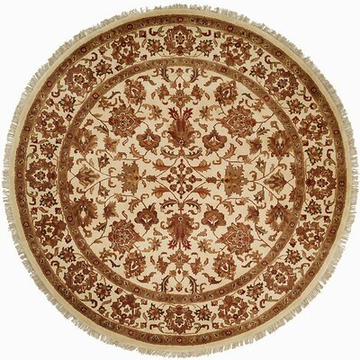 Bawa Hand-Woven Beige Area Rug Rug Size: Round 8