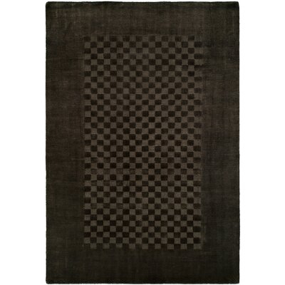 Beharry Hand-Woven Black/Gray Area Rug Rug Size: 36 x 56