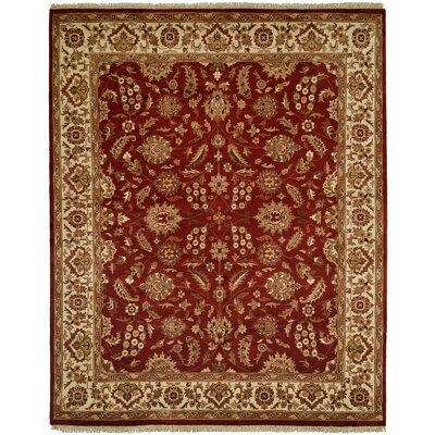 Behl Hand-Woven Red/Beige Area Rug Rug Size: 6 x 9