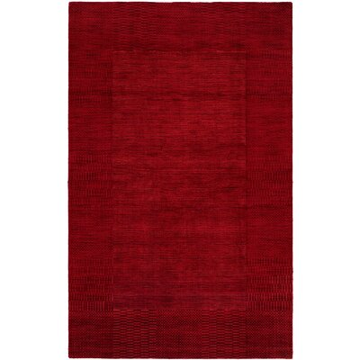 Bera Hand-Woven Red Area Rug Rug Size: 36 x 56