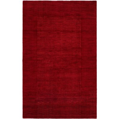 Bera Hand-Woven Red Area Rug Rug Size: 9 x 12
