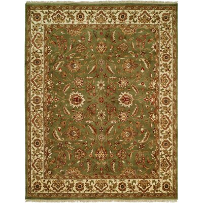 Bhagat Hand-Woven Green/Beige Area Rug Rug Size: 8 x 10