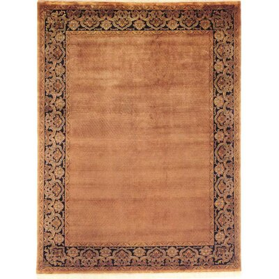 Bhargava Hand-Woven Brown Area Rug Rug Size: 4 x 6