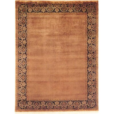 Bhargava Hand-Woven Brown Area Rug Rug Size: 6 x 9