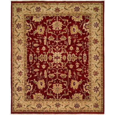 Bhat Hand-Woven Rust Area Rug Rug Size: 6 x 9