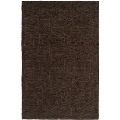 Bhatnagar Hand-Woven Brown Area Rug Rug Size: 9 x 12
