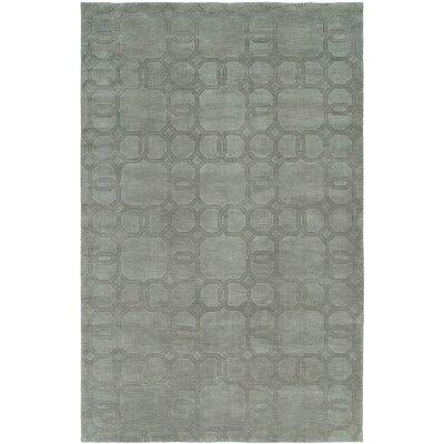 Bhattacharyya Hand-Woven Gray Area Rug Rug Size: 36 x 56