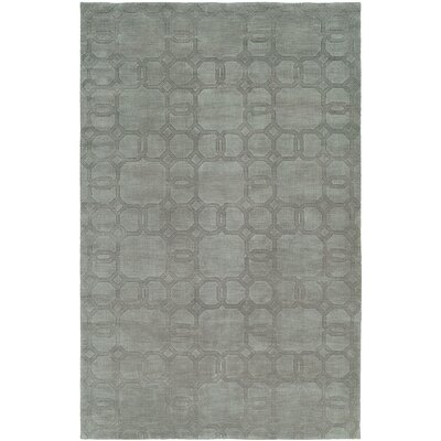 Bhattacharyya Hand-Woven Gray Area Rug Rug Size: 5 x 8