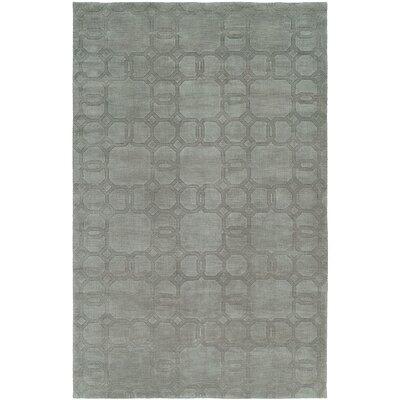 Bhattacharyya Hand-Woven Gray Area Rug Rug Size: 6 x 9